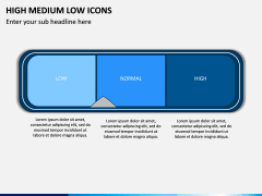 High Medium Low Icons PPT Slide 14