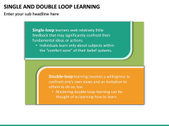 Single and Double Loop Learning PPT Slide 18