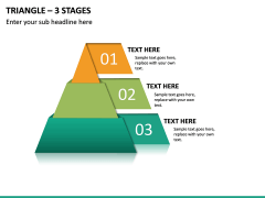 Triangle – 3 Stages PPT Slide 2