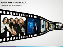 Timeline Film Roll PPT Slide 4