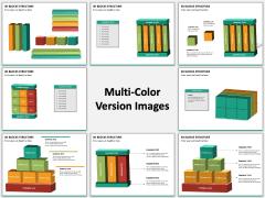 3D blocks structure PPT slide MC Combined