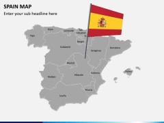 Spain map PPT slide 3