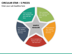 Circular Star – 5 Pieces PPT Slide 2