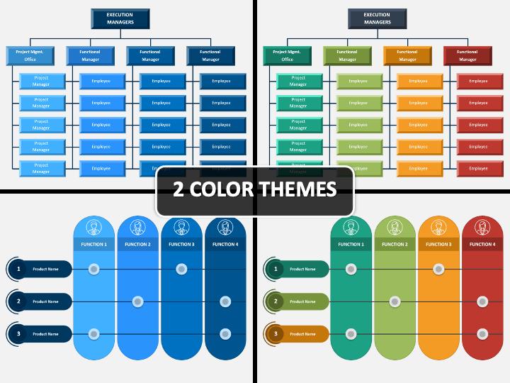 Matrix Organization PPT Cover Slide