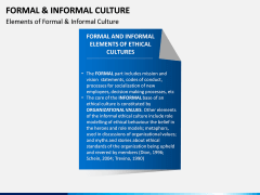 Formal and Informal Culture PPT Slide 9