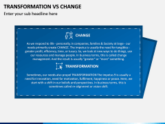 Transformation Vs Change PPT Slide 1