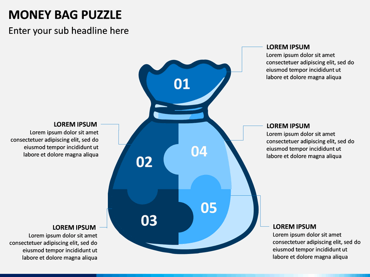 Money Bag Puzzle PPT Slide 1