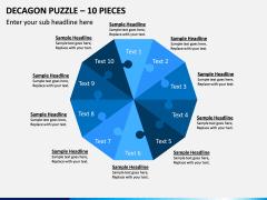 Decagon Puzzle – 10 Pieces PPT Slide 1