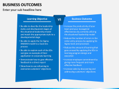 Business outcomes PPT slide 12
