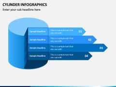 Cylinder Infographics PPT Slide 1