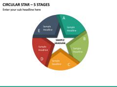 Circular Star – 5 Stages PPT Slide 2