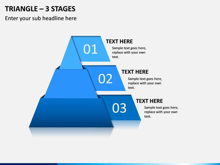 Triangle – 3 Stages PPT Slide 1