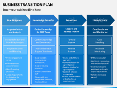 Business Transition Plan PPT Slide 8