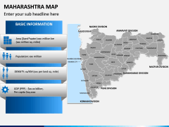 Maharashtra Map PPT Slide 8