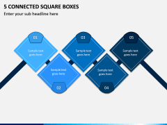 5 Connected Square Boxes PPT slide 1