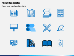 Printing Icons PPT Slide 2