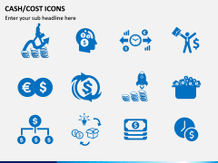 Cash Cost Icons PPT Slide 4