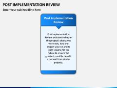 Post Implementation Review PPT Slide 1