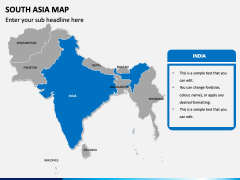 South asia map PPT slide 7