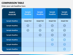 Comparison Tables PPT slide 1