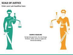 Scale of Justice PPT Slide 8