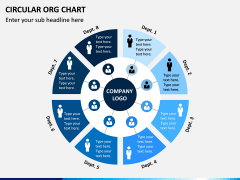 Circular ORG Chart PPT Slide 2