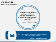 Job Analysis PPT Slide 1