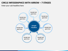 Circle Infographics with Arrow – 7 Stages PPT slide 1