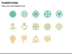 Flower Icons PPT Slide 6