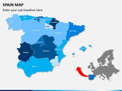 Spain map PPT slide 2