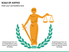 Scale of Justice PPT Slide 5
