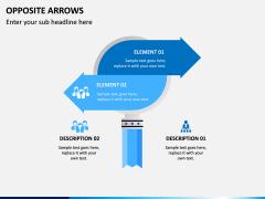 Opposite Arrows PPT Slide 2