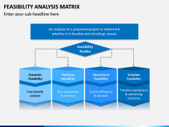 Feasibility Analysis Matrix PPT Slide 1