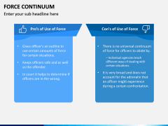 Force Continuum PPT Slide 12