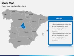 Spain map PPT slide 8