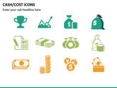 Cash Cost Icons PPT Slide 14