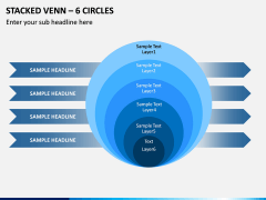Stacked Venn – 6 Circles PPT Slide 1