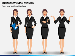 Business Woman Avatars PPT Slide 8