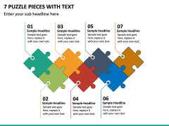 7 Puzzle Pieces with Text PPT slide 2