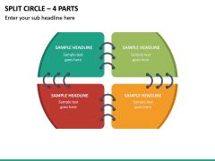 Split Circle – 4 Parts PPT Slide 2