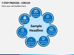 7 Step Process - Circles PPT slide 1