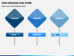 High Medium Low Icons PPT Slide 10