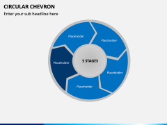 Circular Chevron PPT Slide 6