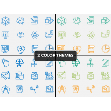 Design Thinking Icons PPT Cover Slide