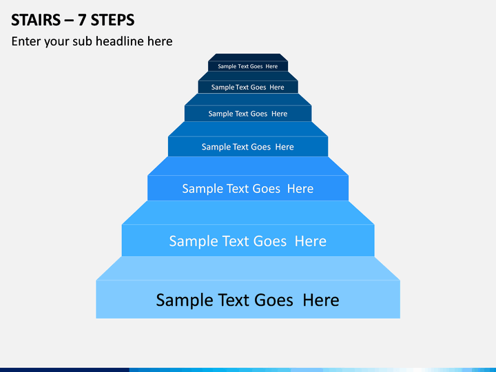 Stairs – 7 Steps PPT Slide 1