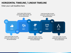 Horizontal Timeline PPT Slide 2
