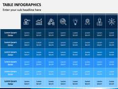 Table Infographics PPT Slide 9