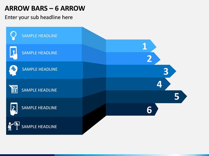 Arrow Bars - 6 Arrow PPT Slide 1