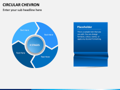 Circular Chevron PPT Slide 3