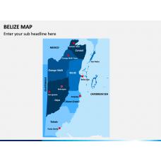 Belize Map PPT Slide 1